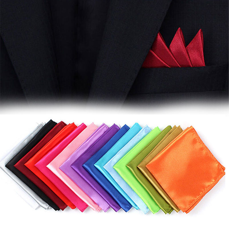 Men Fashion Silk Texture Men Pocket Towel Chest Towel Handkerchie Gentleman Solid Trendy Rayon Clothing Accesories For Adult Men