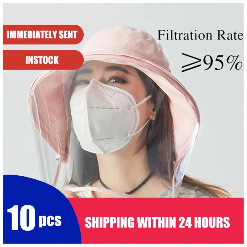 10PCS KN95 Mask 2020 Hot Selling CE Ffp3 Mask Anti-fog Dust-proof Respirator Disposable Breathable And PM2.5 Disposable Masks