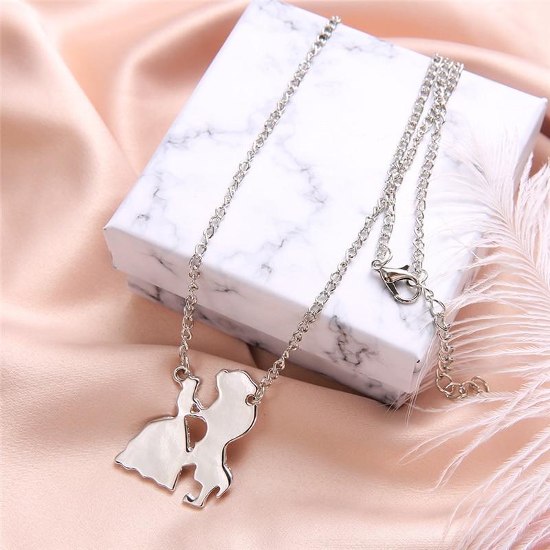 Creative Beauty Beast Pendant Necklace For Women Fashion Long Gold Statement Necklace Choker Personalise Silvery Choker Jewellry