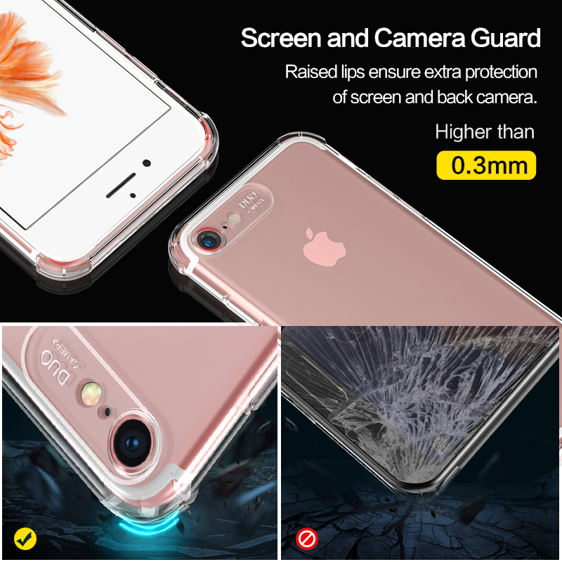 SmartDevil Shockproof Bumper Phone Case for IPhone X XS XR XS Max 8 7 6 6S Plus Transparent Silicone Clear Protection Back Cover in Fitted Cases from Cellphones Telecommunications