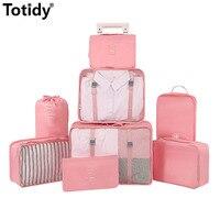Marke Reisetaschen Kleidung Schuh Unterwäsche Reise Veranstalter Gepäck Verpackung Cube Lagerung Zubehör Bh Kosmetische Veredelung Pouch