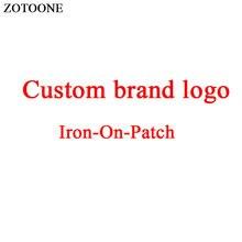 ZOTOONE Custom Brand Logo Iron on Patch for Clothes DIY T-shirt Applique Heat Transfer Letter Cartoon Spider Sticker E