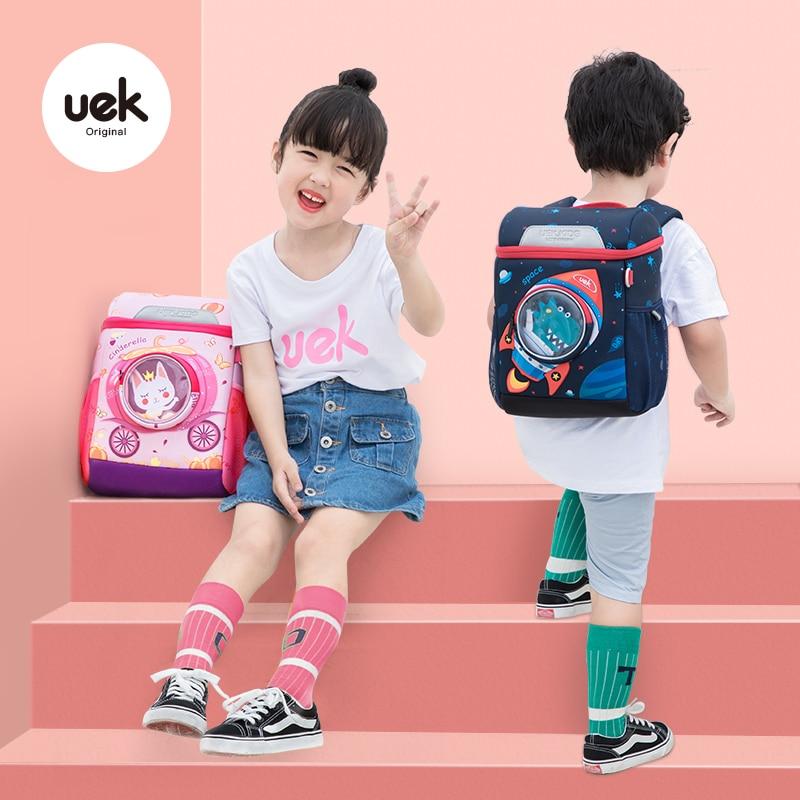 Uek Kids Interplanetary Backpack Todd Bag Princess School Book Bag Kindergarten Boys And Girls Outdoor Travel  Cartoon Pre Schoo