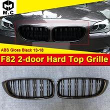цены на 1 Pair F82 M-Style Grille ABS Gloss Black Front Bumper Mesh For F82 M4 2-door Hard top Double Slats Front Kidney Grille 2013-18  в интернет-магазинах