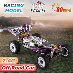 Wltoys 124019 1/12 2.4GHz RC Car 60km/h High Speed Racing Car Aluminum Alloy Chassis Zinc Alloy Gear Off-Road Drift Car RTR