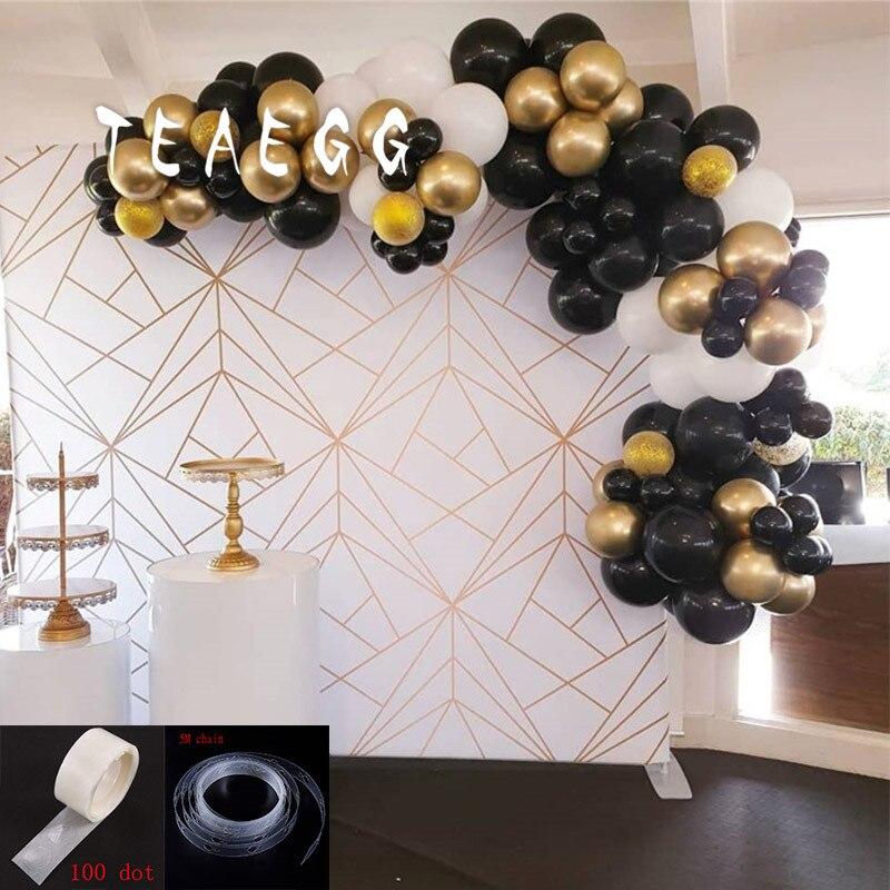 100pcs Black Gold Balloon Garland Arch Kit For Men 30th Birthday Party Decoration Balloons Gold Confetti Globo Backdrop Kupiti Za Cinoyu 17 68 V Aliexpress Com Imall Com