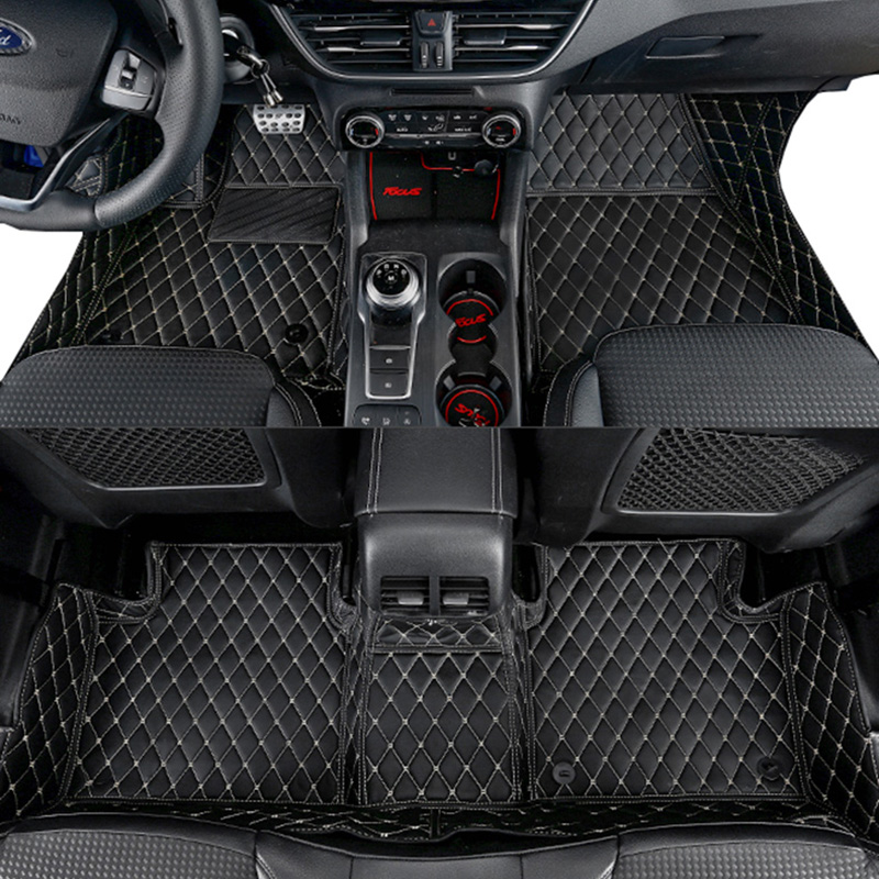 Lsrtw2017 Car Accessories Leather Floor Mats For Ford Focus Mk2 Mk3 2004-2020 2019 2009 2016 2017 2018 2015 2020 2006 2007 2008