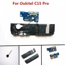 Original USB Board+Loud speaker Buzzer Ringer+Motor vibrator For Oukitel C15 Pro Phone Replacement Accessories
