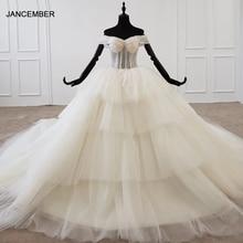 HTL1195 חתונה שמלת 2020 חדש יוקרה תחרה עד בחזרה כלה שמלת חתונת אפליקציות פרל ואגלי שמלות כלה Vestido דה Noiva