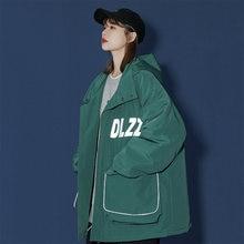 Женские Зеленые пуховики карго на зиму 2020 модные трендовые