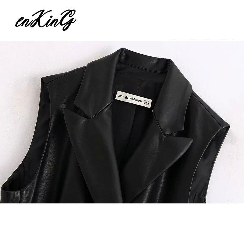 2020  england high street rock sashes leather PU long blazers za dress women vestidos de fiesta de noche vestidos party dress