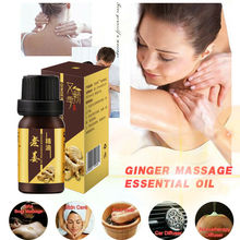 10ml Strong Effect Ginger Anti-Cellulite Essential Oil Whole Body Wrap Slimming Fat Burner Gel Weight Loss Essential Oil TSLM1