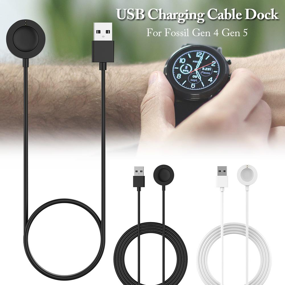 Smart Watch Cable Wireless Charging Dock USB Charging For Fossil Gen 4 Gen 5 Skagen Falster 2 Scallop