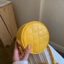 Messenger-Bag Round-Bag Small-Bag Lingge Single-Shoulder New-Fashion Versatile Simple