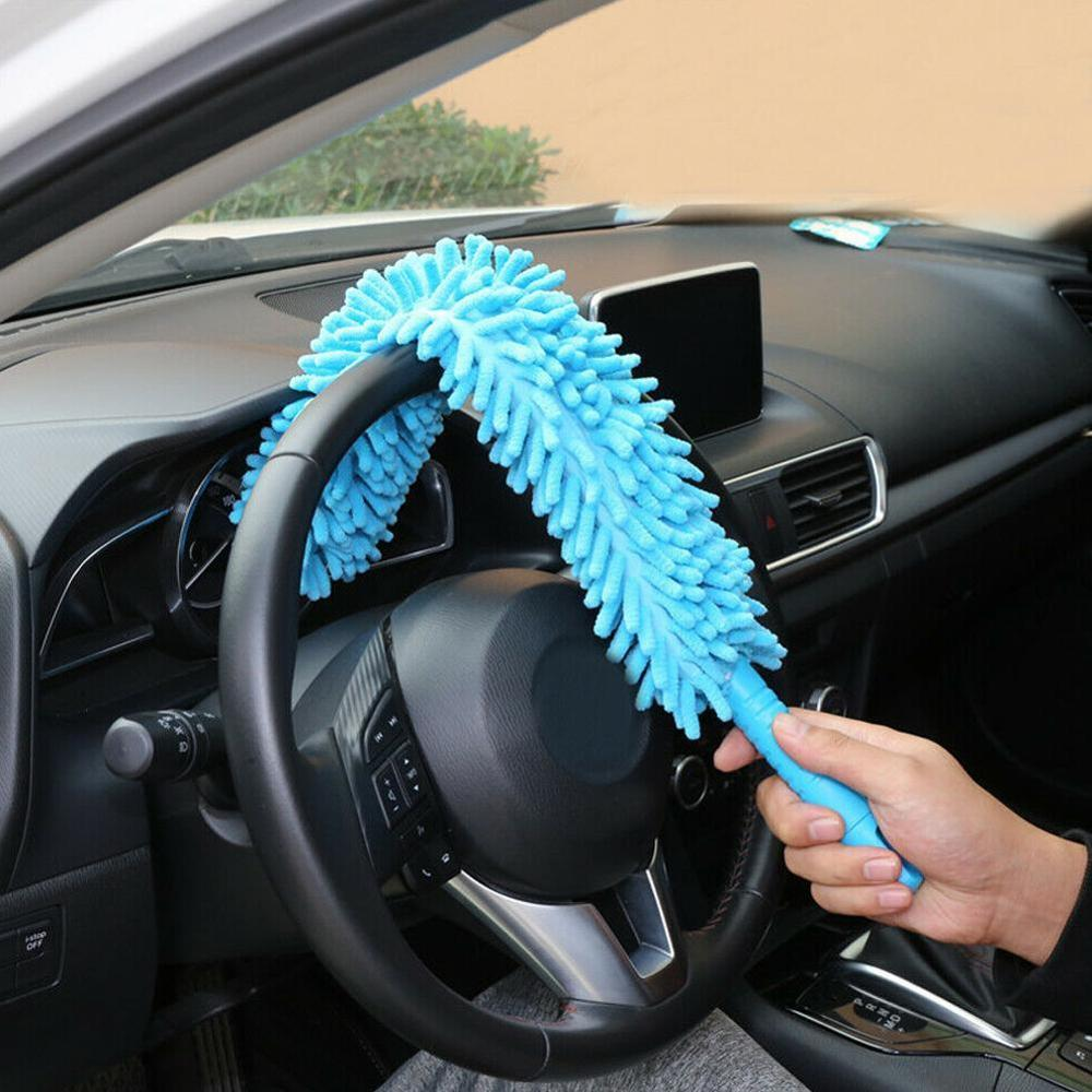 Flexible Extra Long Soft Microfiber Chenille <font><b>Car</b></font> <font><b>Wheel</b></font> Wash <font><b>Brush</b></font> Microfiber <font><b>Wheel</b></font> <font><b>Cleaner</b></font> <font><b>Car</b></font> Wash Accessorie image