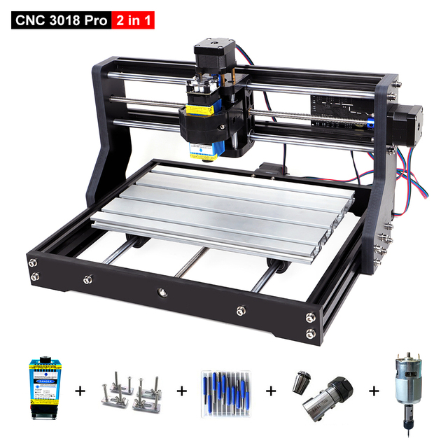 CNC 3018 Pro Upgrade Laser Engraver DIY Wood Router Machine GRBL Control 3 Axis PCB Milling CNC Laser Cutter Engraving Machine