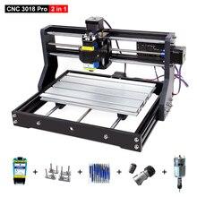 Máquina enrutadora láser de madera CNC 3018 Pro, fresadora PCB de 3 ejes, cortador láser, máquina de grabado