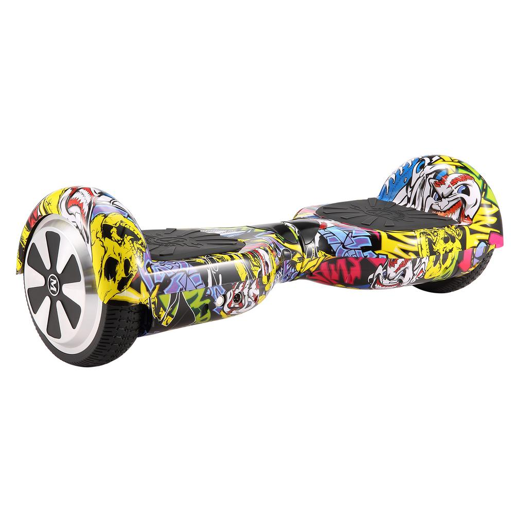 Young Hip-Hop Style 6.5 Inch Electric Skateboard Steering-wheel Smart 2 Wheel Self Smart Balance Board Standing Scooter 7 Colors