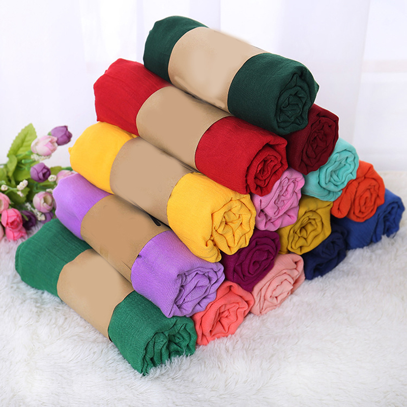 Autumn Winter Candy Color New Cotton Linen Scarf Solid Color Female Scarf Women Gift Scarf Beautiful Scarf Women
