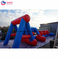 Air tight inflatable water obstacle course water sport game inflatable floating wipeout