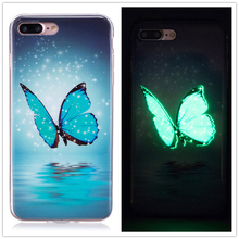 Luminous Case For iphone XS MAX XR XS X 7 6 Funda Fashion Ultra Thin Soft Silicon TPU Cover Light Glow in Dark Phone Cases Capa girl pattern glow in the dark protective tpu back case for iphone 4 4s white light pink