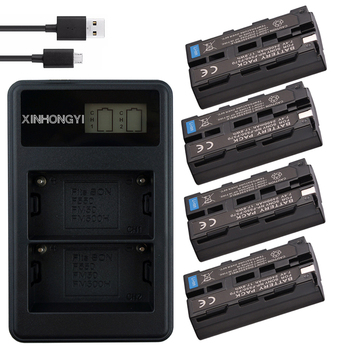 NP-F550 batteries NP F550 NP-F570 Battery + LCD Charger For Sony NP-F330 NP-F530 NP-F730 NP-F750 CCD-TRV81 CCD-RV100 Camera