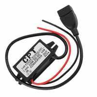 Regulador convertidor reductor hembra USB 7-50V a 5V 2A para accesorios de coche impermeables