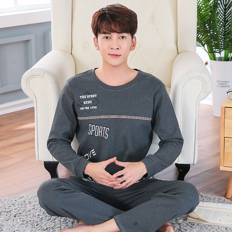 High Quality 100% Cotton Long Sleeve Pajama Sets For Men 2020 Spring Autumn Soft Sleepwear Male Loungewear Homewear Home Clothes
