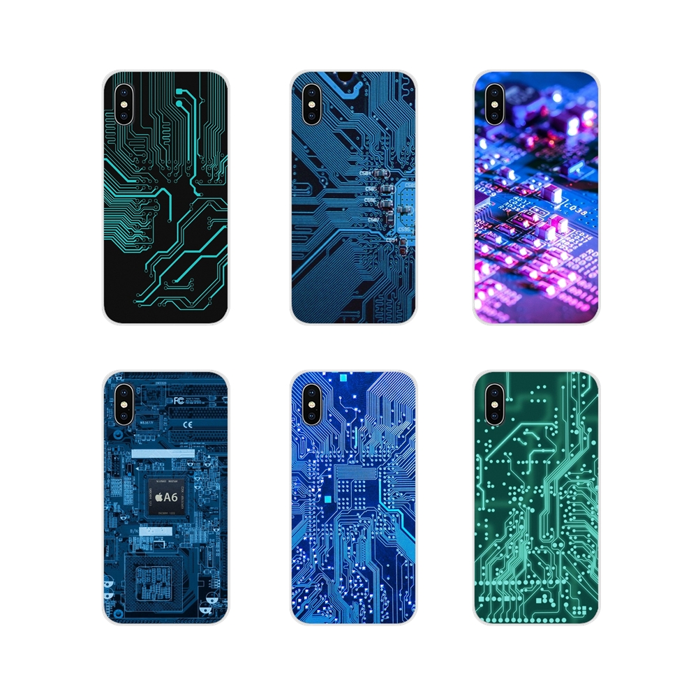 TPU Cover For <font><b>Samsung</b></font> <font><b>Galaxy</b></font> S3 S4 S5 Mini S6 S7 Edge S8 S9 S10 Lite Plus <font><b>Note</b></font> 4 5 <font><b>8</b></font> 9 Technology Circuit board <font><b>Motherboard</b></font> line image