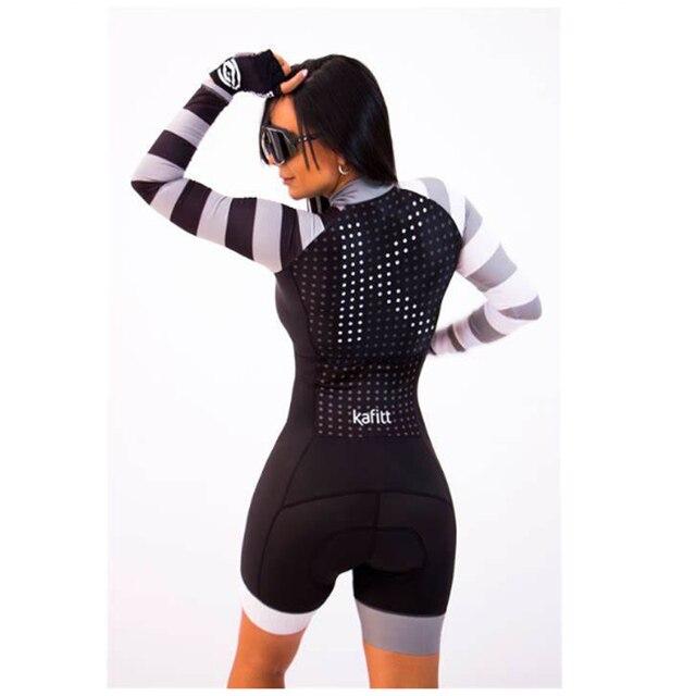 2020 mulheres profissionais triathlon manga longa conjunto skinsuit maillot ropa ciclismo aofly mtb bicicleta roupas macacão fino almofada esponja macaquinho ciclismo feminino manga longa roupas com frete gratis macaca 2