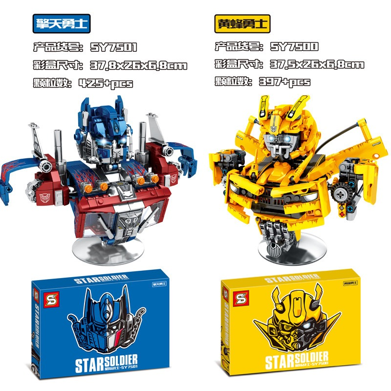 Transformation Bumblebees Compatible Legos Robot Brickheadz Voltron Super Heroes Building Blocks Bricks Toys For Children Gifts