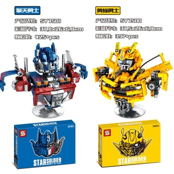 Transformation Bumblebees Compatible decool Robot Brickheadz Voltron Super Heroes Building Blocks Bricks Toys for Children Gifts single sale modok george tarleton from hulk lab smash set building blocks super heroes bricks action toys for children kf918