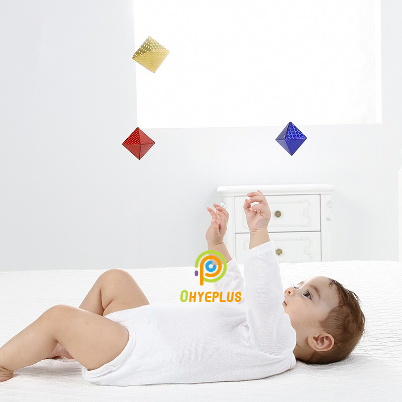 Octahedron Mobile Classic Montessori Nido Materials For 0~3Monthes Baby Early Development Toys Visual Exercise