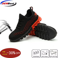 Men's Work Safety Shoes Spring And Summer Light Breathable And Comfortable Steel Toe Cap Anti-skid Sports Protective Shoes
