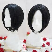 Парик для косплея аниме «Nano Oosaki Бана», черные короткие прямые волосы с центральным разделением, термостойкие синтетические волосы, с шапочкой