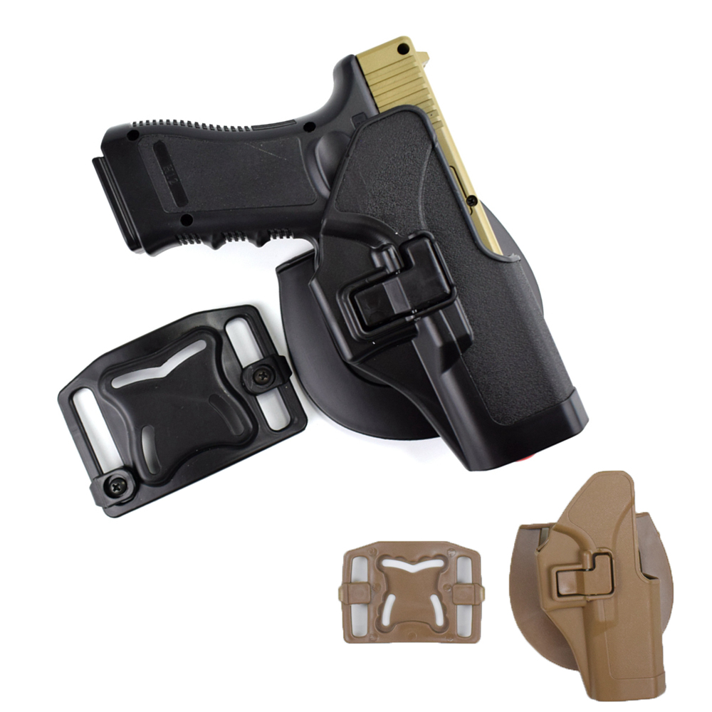 Military Glock Holster Tactical Glcok Right Hand Belt Gun Holster for Glock 17 19 22 23 31 32 Black Tan(China)