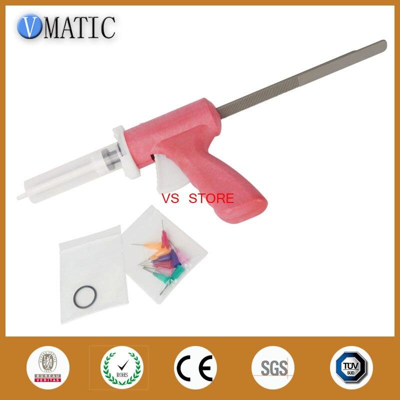Купить с кэшбэком Free Shipping Quality 30ml 30cc Manual Caulking Gun With Syringe & Needles
