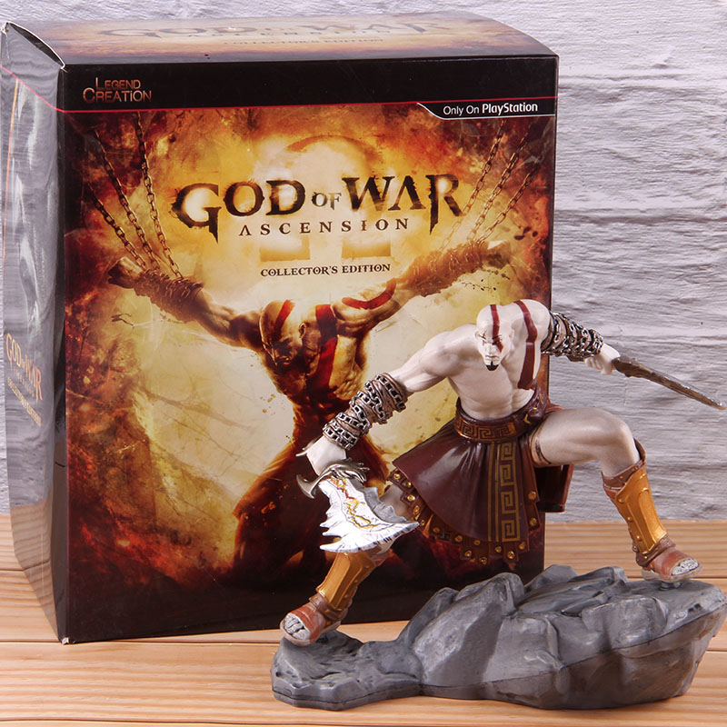 God Of War Ascension Kratos Statue Figure Collector's Edition PVC Action Figure Kratos God Of War 4 Collectible Model Toy Gifts