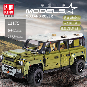 Land Car Rover Defende Model Kit Bricks Compatible with MOC Technic 42110 Off-road Vehicle Building Blocks Toys For Children DIY lepin 23011 2959pcs technic series off road vehicle compatible with moc 5360 model building sets blocks bricks educational toys