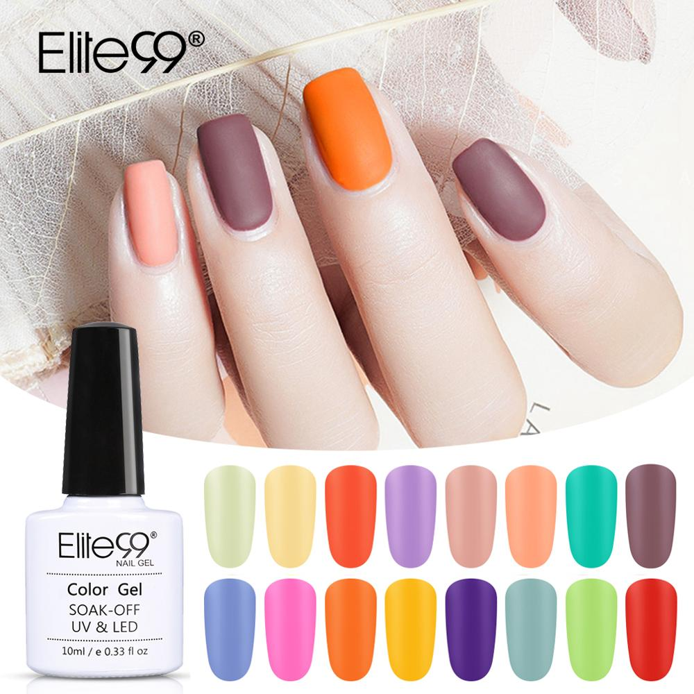 Elite99 Macaron Color UV Gel Nail Polish Matte Top Coat Semi-permanent UV Varnish Nails Soak Off Nail Art Manicure Gel Polish