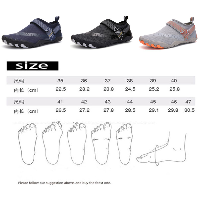 Outdoor Beach Water Shoes Men&Women Aqua Shoes Quick-dry Lightweight Breathable Rubber  Outdoor Professional Water Sports Sneake 6