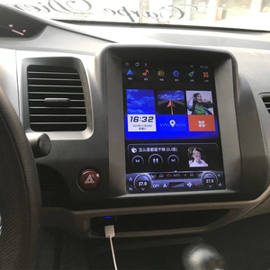 Image 2 - 테슬라 화면 혼다 시빅 2006 2007 2008 2011 자동차 안드로이드 멀티미디어 플레이어 10.4 인치 자동차 라디오 스테레오 오디오 GPS 네비게이션