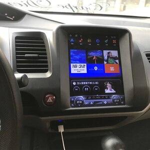Image 2 - Tesla bildschirm Für Honda Civic 2006 2007 2008 2011 Auto Android Multimedia Player 10,4 inch Auto Radio stereo Audio GPS Navigation