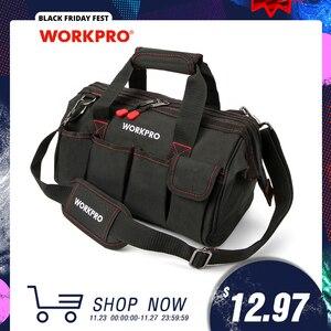 Image 1 - WORKPRO Bolsa de herramientas impermeable para hombre, bolso de viaje, cruzado, de gran capacidad, Envío Gratis, 4 tamaños (12, 14, 16 y 18 pulgadas)