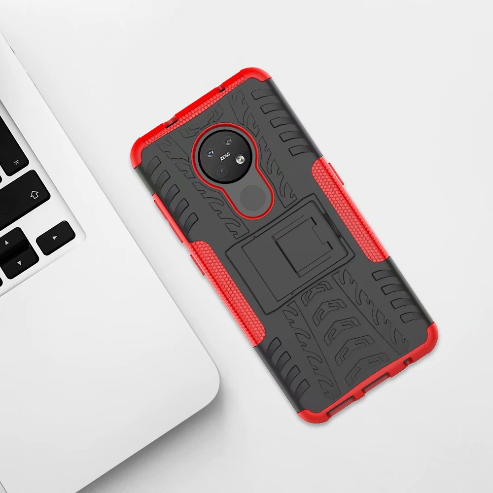 Thouport ShockProof <font><b>Case</b></font> For <font><b>Nokia</b></font> 6.2 7.1 <font><b>8.1</b></font> 6.1 Plus 2018 <font><b>Cases</b></font> Cover <font><b>Silicone</b></font> +PC Hybrid Armor Hard <font><b>Case</b></font> For <font><b>Nokia</b></font> 7.2 X6 X7 image