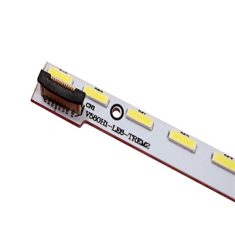 FOR Hisense Changhong LCD TV LED Backlight V580H1-LE6-TREM2 V580HK1-LE6 64 LEDs Is Used Quality Assurance No Aluminum Plate