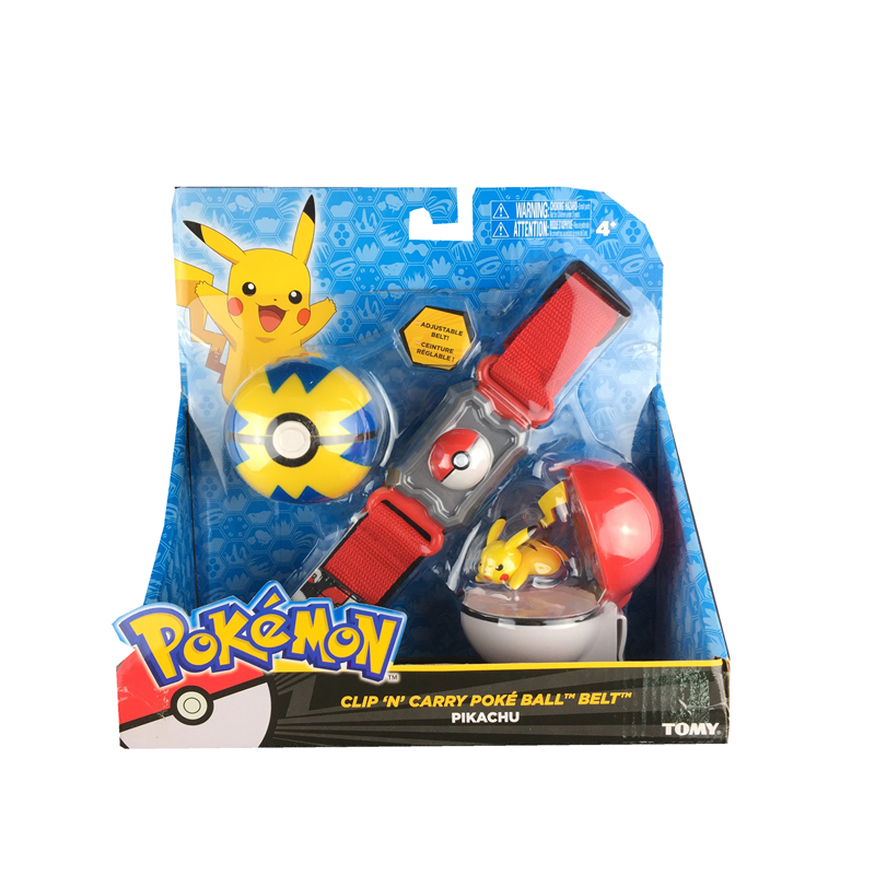Promotion! figures Pokeballs With Belt Action Figure Model Toys Retractable Belt Gifts Kids Toys in box