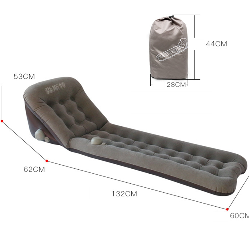 Camping Hiking Home Outdoor Portable Inflatable Multi Function Back Rest Pillow Sofa Bed Self Inflate Beach Air Mattress