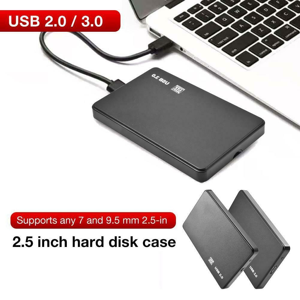 USB 3.0/2.0 5Gbps 2.5inch Portable SATA External Transmission Closure HDD Hard Enclosure Disk Case Box External Hard Disk for PC 2