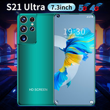 Global Version S21 Ultra 7.3 Inch SmartPhone Android OS 10.0 6800Mah 8+256GB 24+48MP 4G 5G Dual SIM Multi Function Smart Mobile